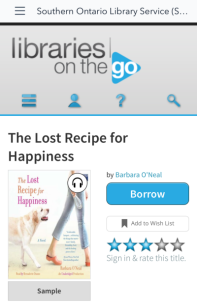 The Lost Recipe for Happiness on Libraries on the Go
